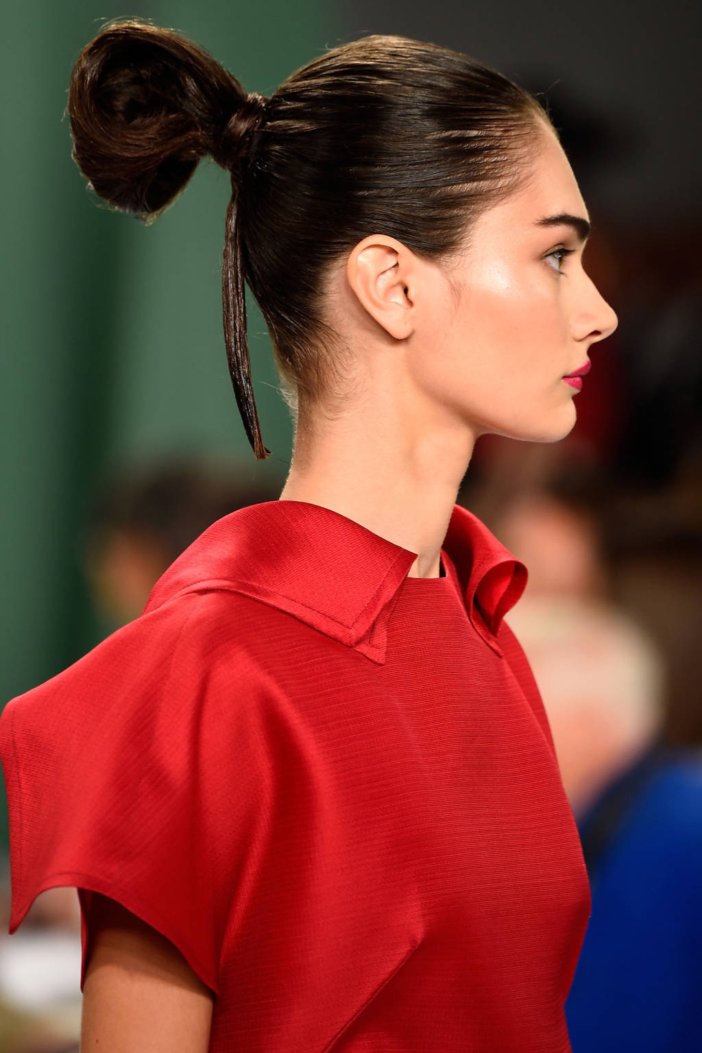 Carolina Herrera bun hairstyles 2015