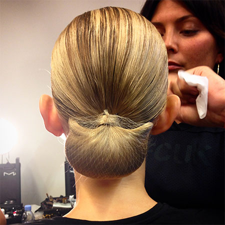 Altuzarra heart shaped bun hairstyles 2015