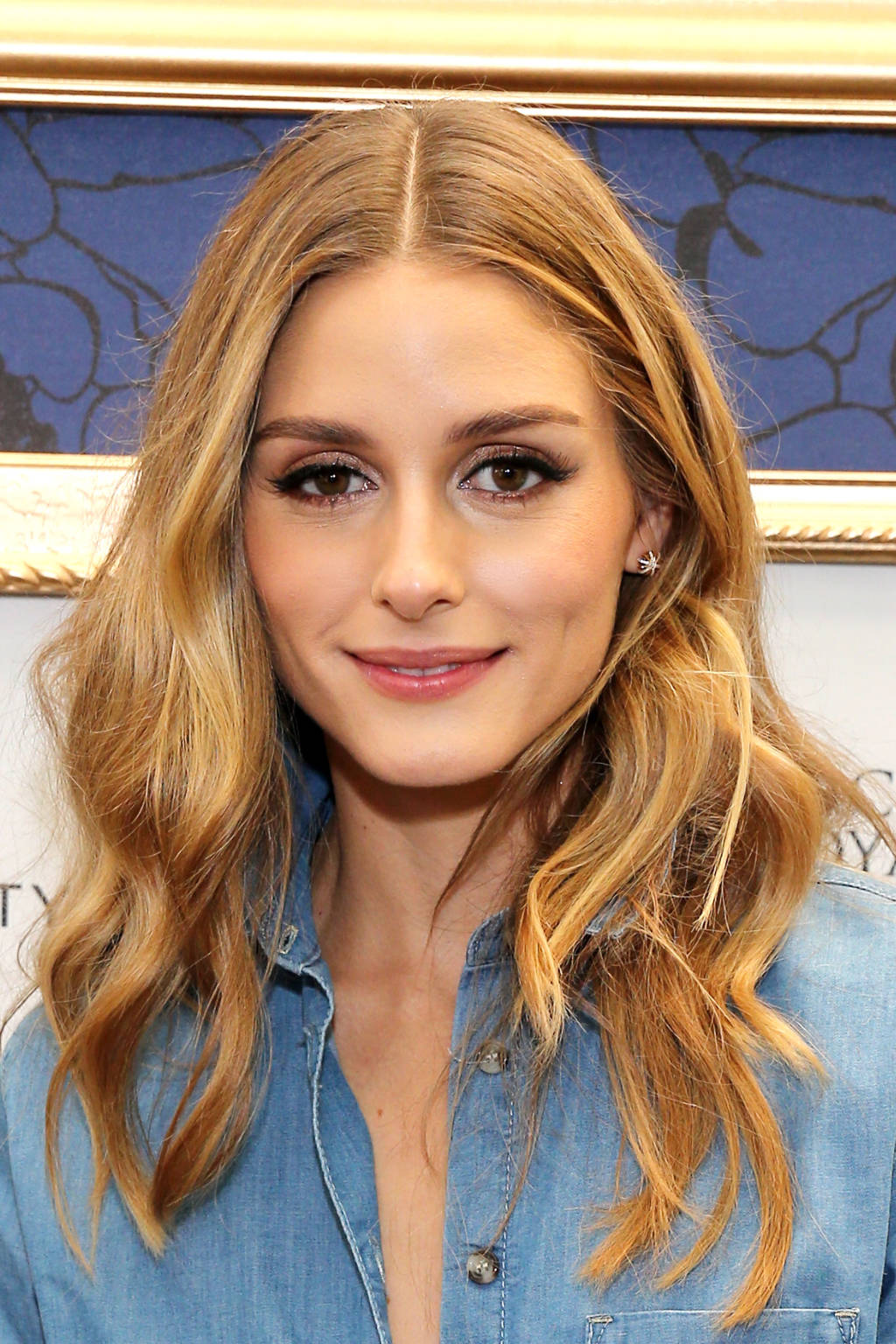 Olivia Palermo center parted hairstyles 2015