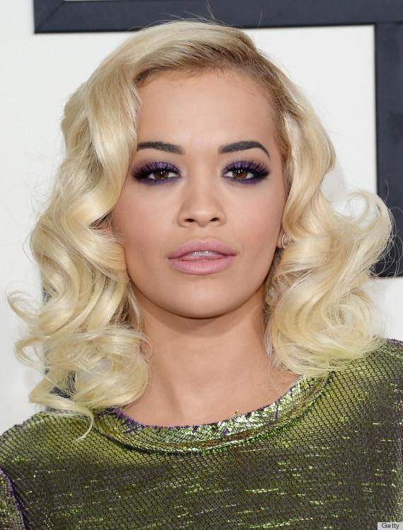 Rita Ora Bouncy Curly Hairstyles 2015