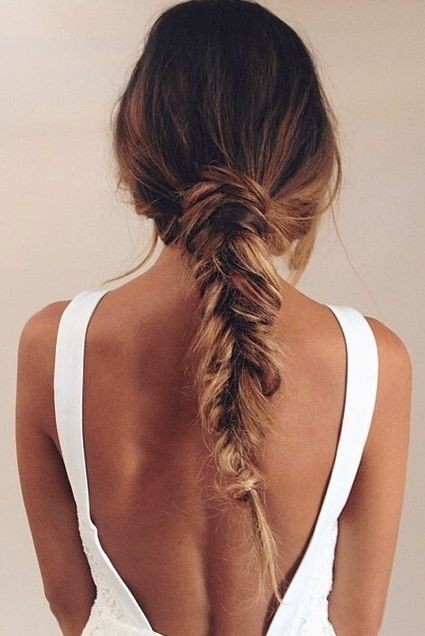 Easy cute fishtail hairstyles 2015