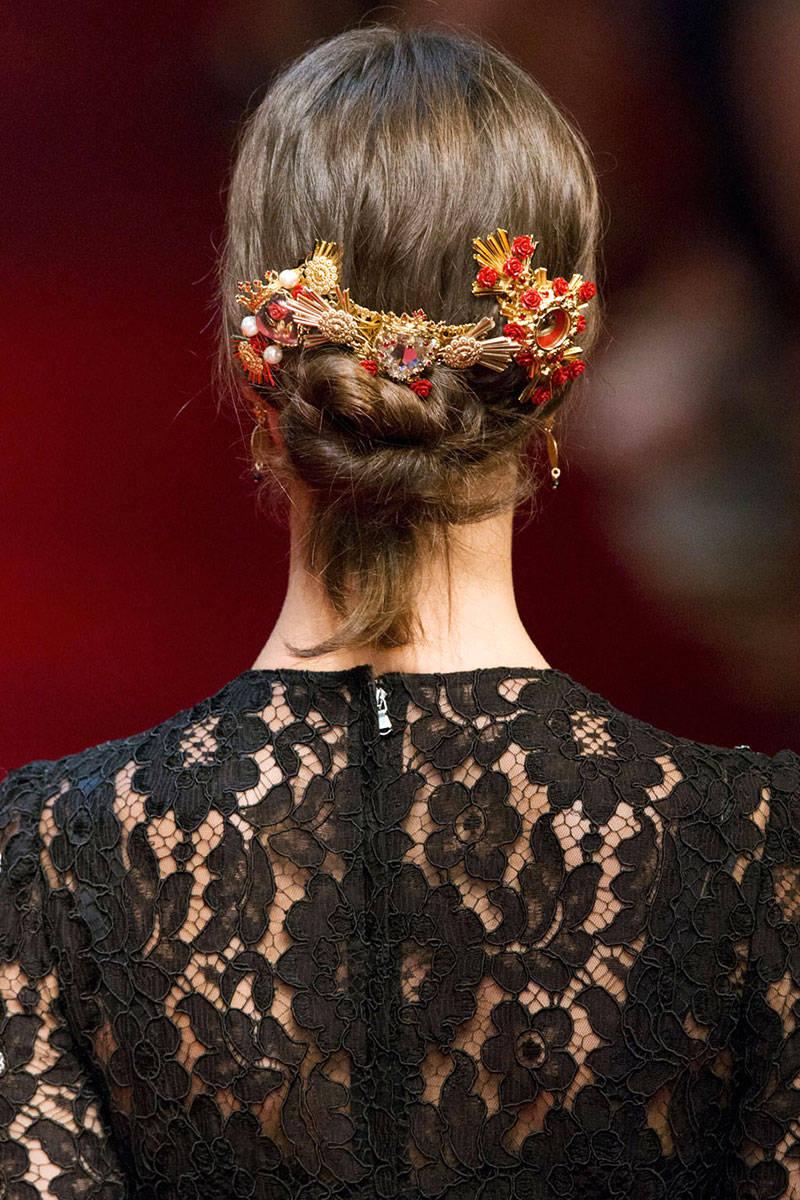 Dolce&Gabbana jewel hair accessories 2015