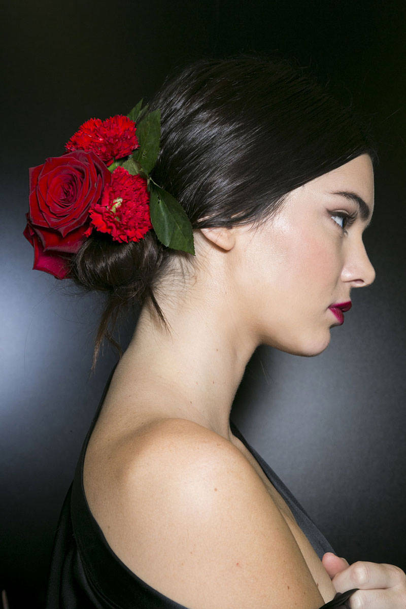 Dolce&Gabbana flower hair accessories 2015