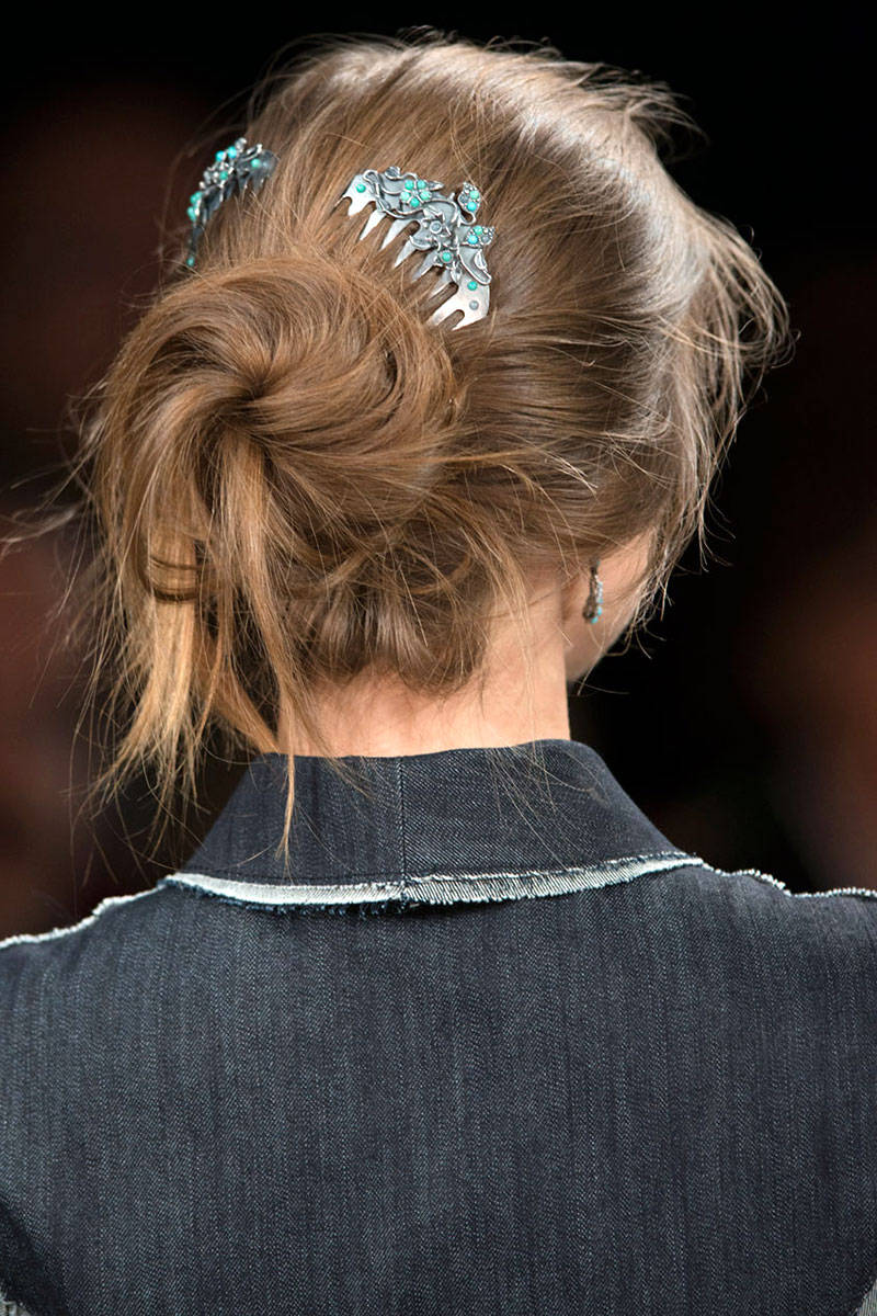 Bottega Veneta jewel hair accessories 2015