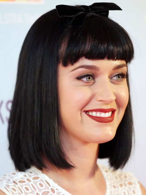 Katy Perry blue brunette hair color trends 2015