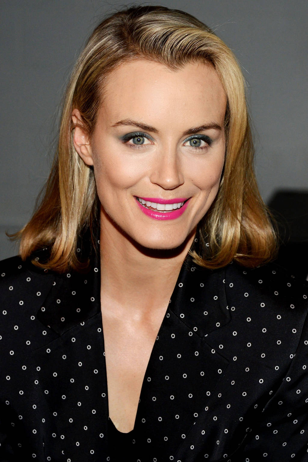 Taylor Shilling blonde hair color for winter