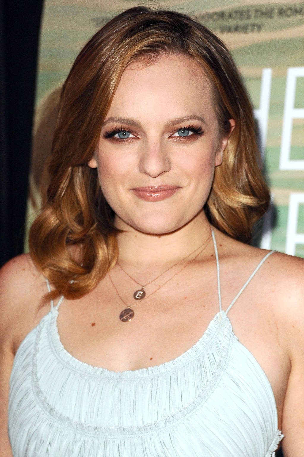 Elisabeth Moss bronze hair colors 2015