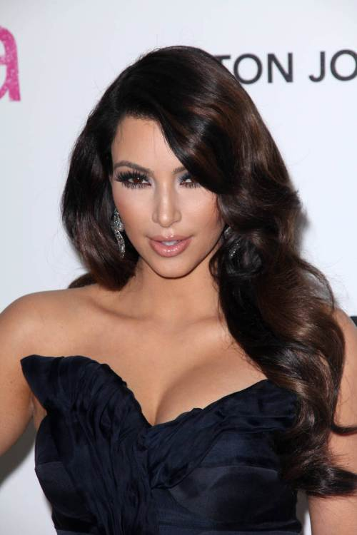 Kim Kardashian New Year hairstyles 2015