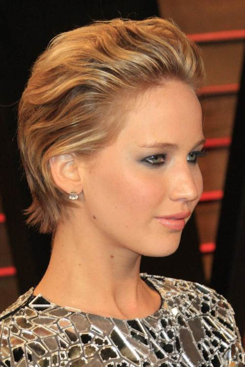 Slicked back short NewYyear hairstyles 2015