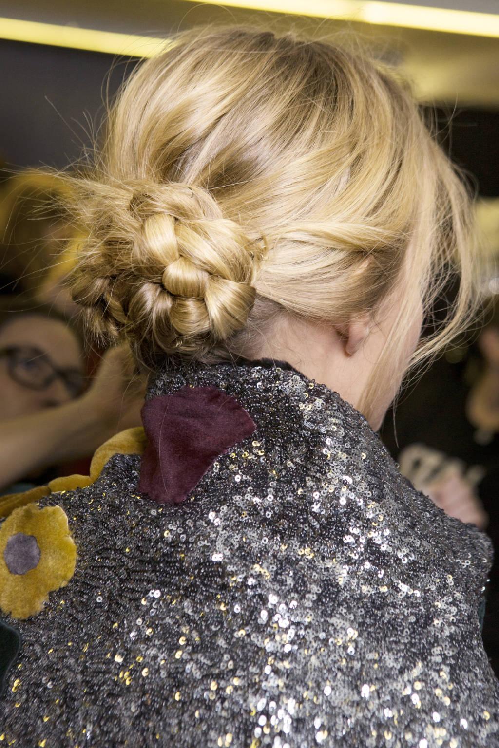 Dolce&Gabbana bun hairstyles 2015