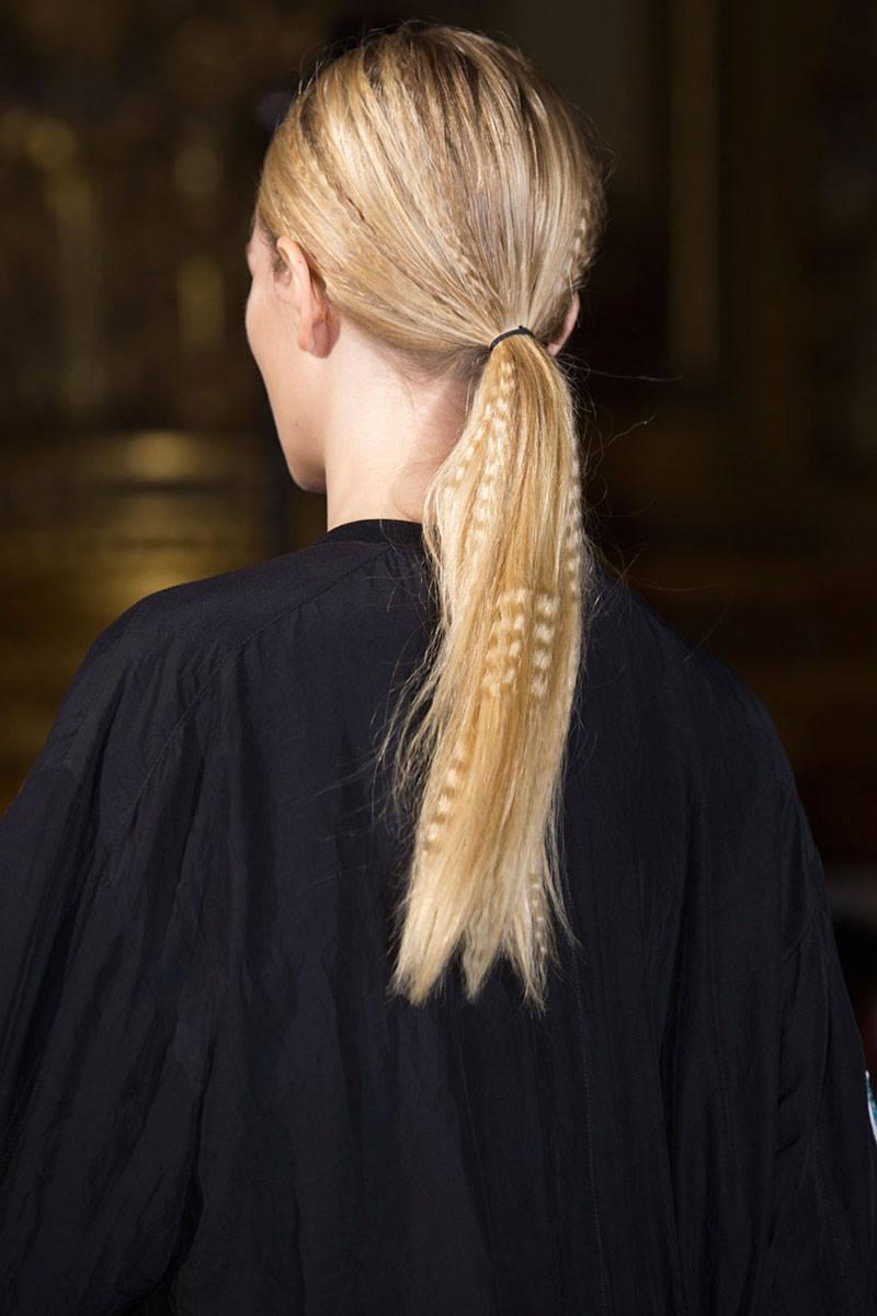 Stella McCartney ponytail hairstyles 2015