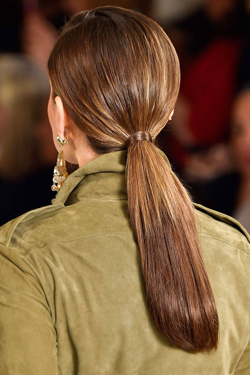 Ralph Lauren ponytail hairstyles 2015