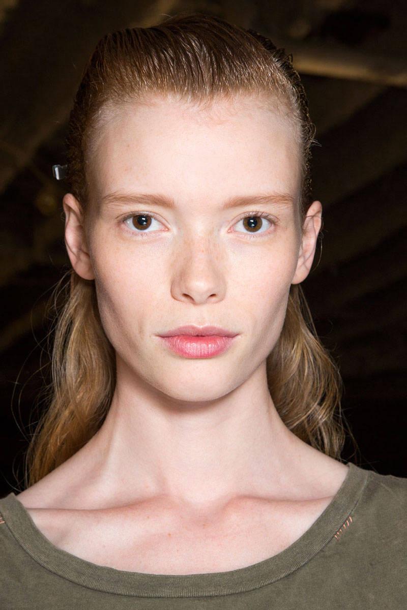 Proenza Schouler wet hairstyles 2015
