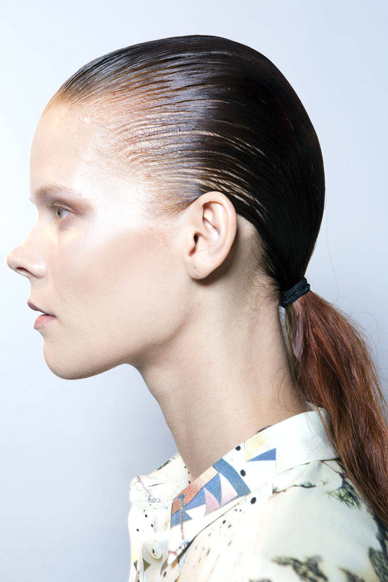 Alexander Wang wet hairstyles 2015