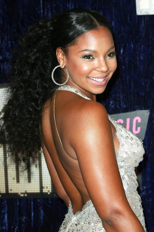 Ashanti Long Natural hairstyles 2015