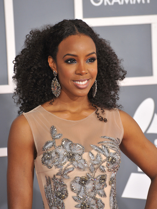 Kelly Rowland Long Natural hairstyles 2015