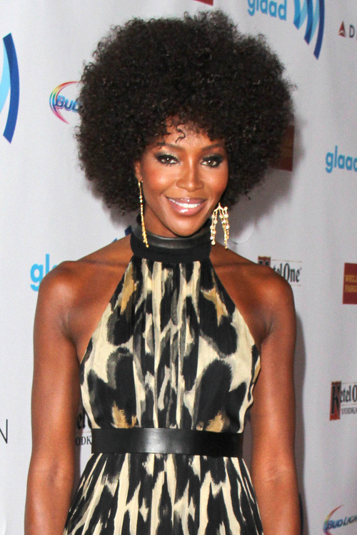 Naomi Campbell Natural Medium Hairstyles 2015
