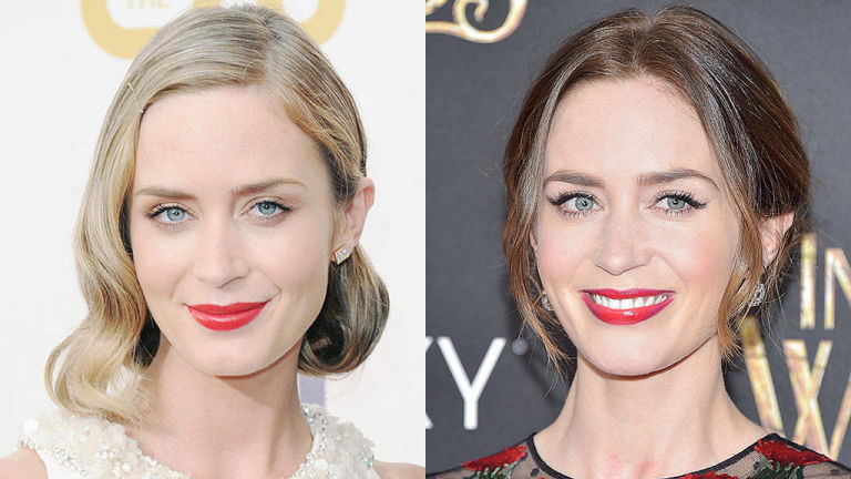 Emily Blunt Spring 2015 hair colors