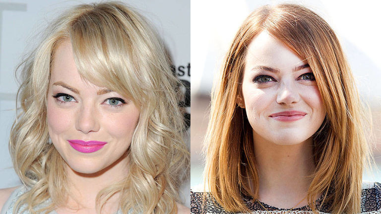 Emma Stone Spring 2015 hair colors
