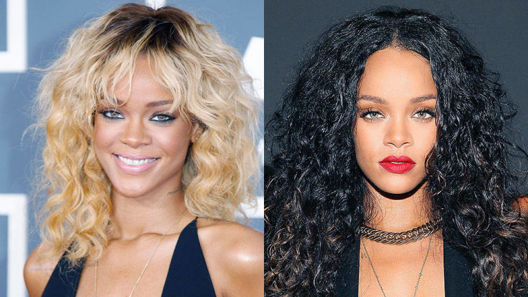 Rihanna Blonde and Brunette hair colors for spring 2015