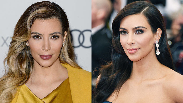 Kim Kardashian Spring 2015 hair colors