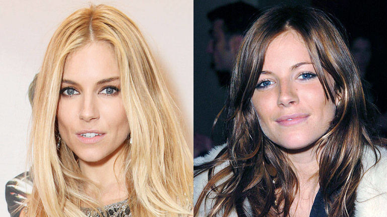 Sienna Miller hair colors for 2015