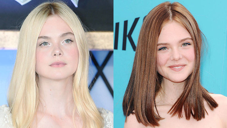 Elle Fanning Spring 2015 hair colors
