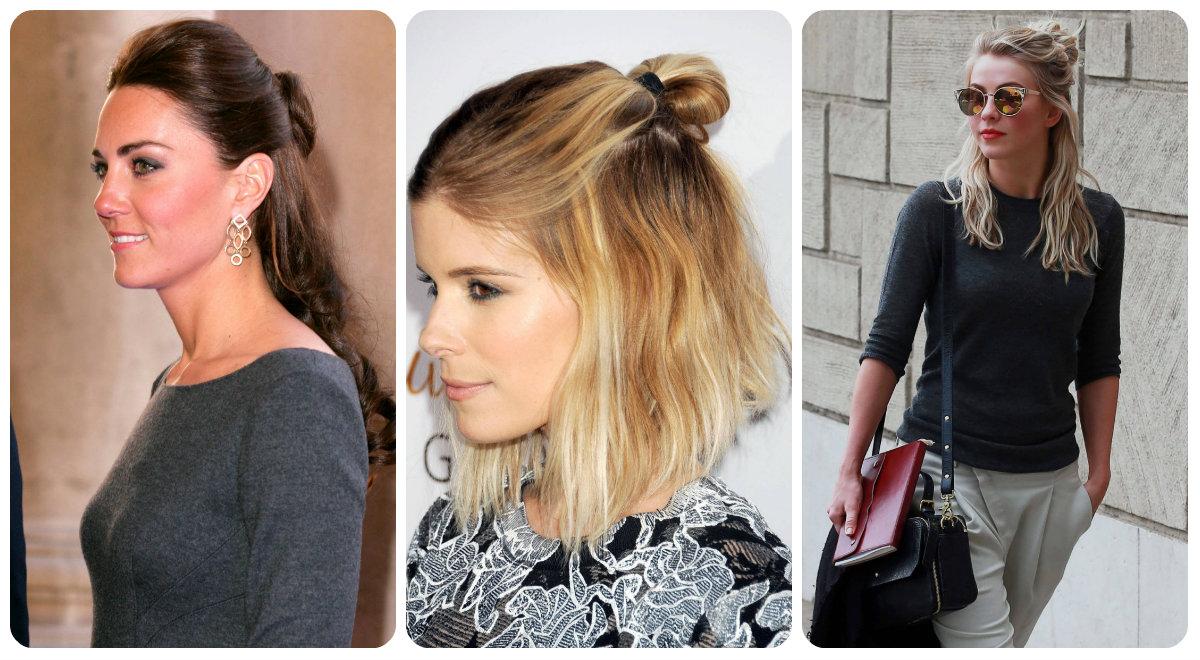 Half Bun Celebrity Hairstyles For Spring 2015 Hairstyles 2017