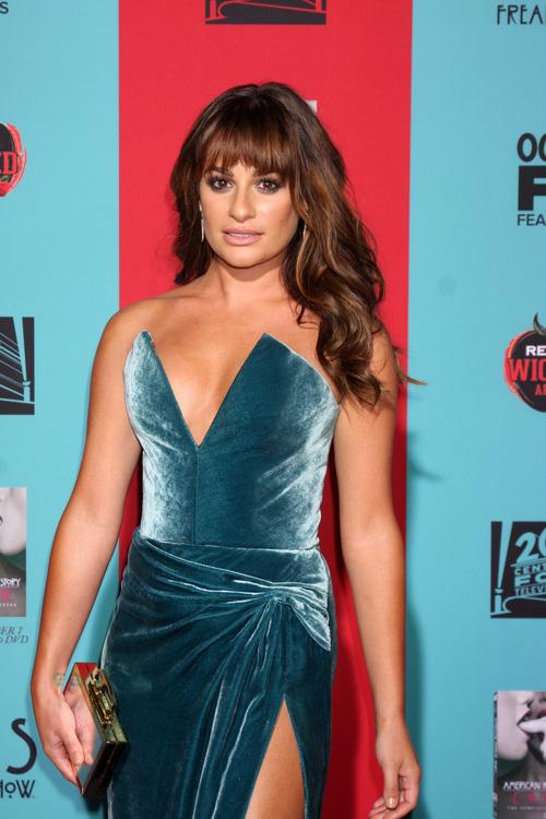 Lea Michele long wedding hairstyles 2015