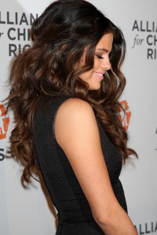 Selena Gomez long wedding hairstyles 2015