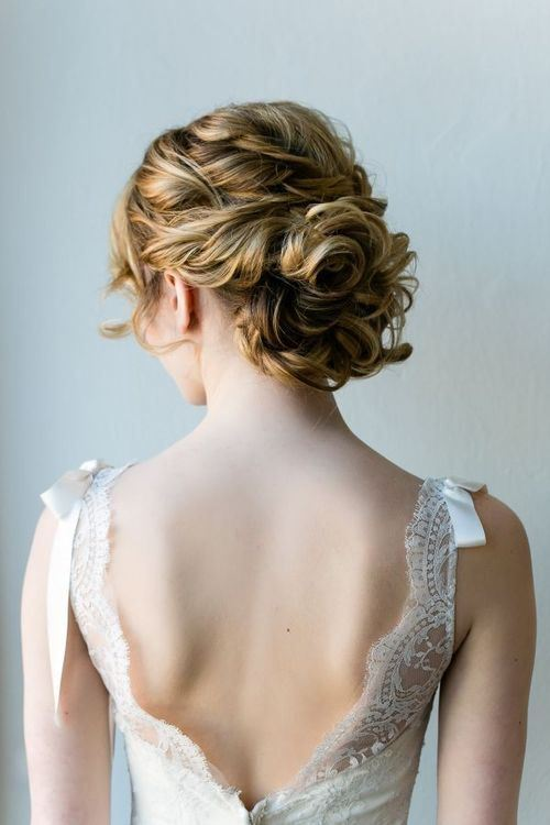 Curly wedding hairstyles 2015