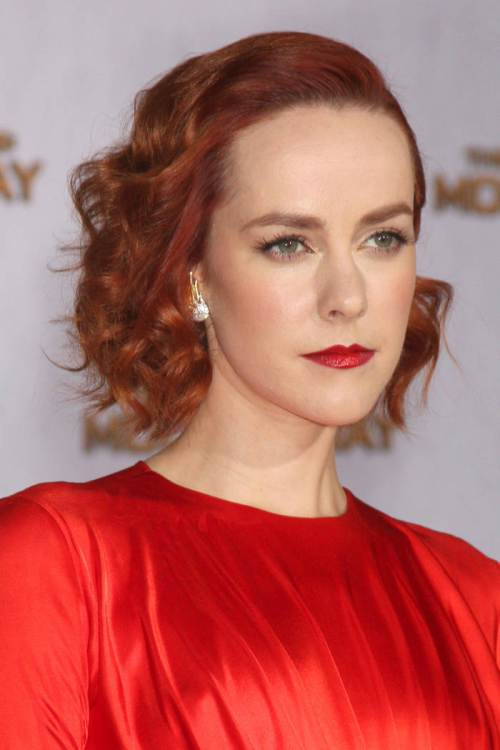 Jena Malone short red bob hairstyles 2015