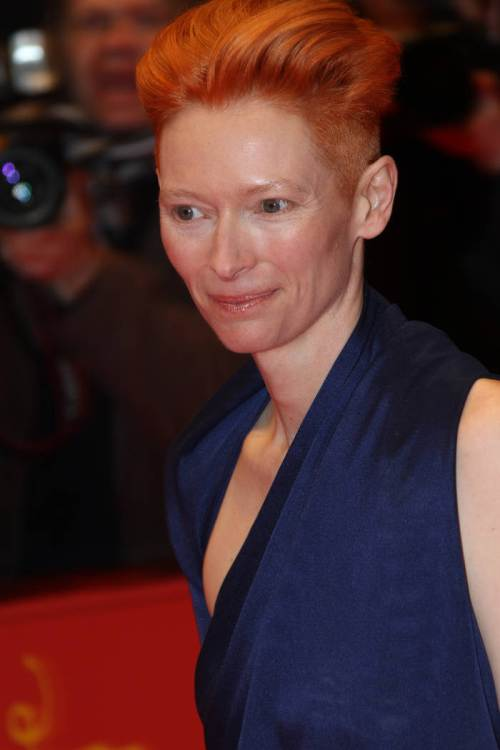 Tilda Swinton short red hairstyles 2015