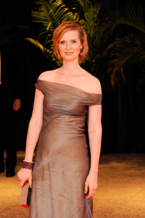 Cynthia Nixon short red bob hairstyles 2015