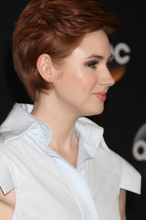 Karen Gillan short red hairstyles 2015