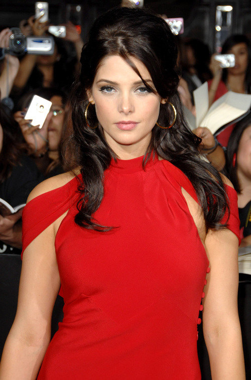 Ashley Greene half updo from straight hairstyles 2015