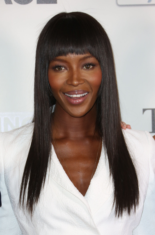 Naomi Campbell straight hairstyles 2015