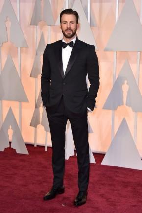 Chris Evans Oscars 2015 Hairstyles
