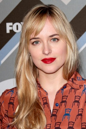 Dakota Johnson blonde hairstyles 2015
