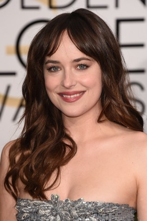 Dakota Johnson Brown Wavy Hairstyles 2015