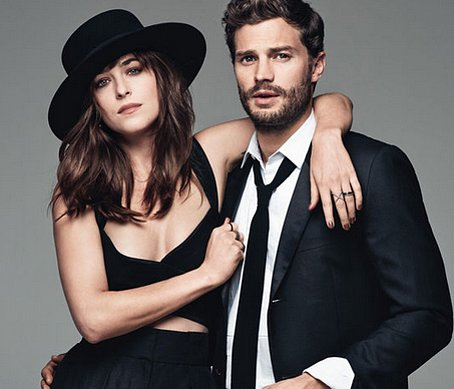 Jamie Dornan and Dakota Johnson hairstyles 2015
