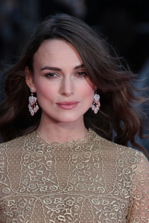Keira Knightley Long Layered Hairstyles 2015