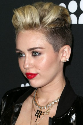 Miley Cyrus funky hairstyles 2015