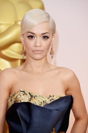 Rita Ora Oscar 2015 Hairstyles