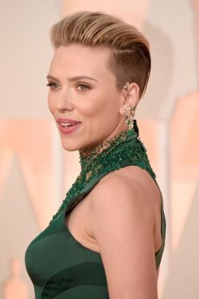 Scarlett Johansson Oscar 2015 Hairstyles