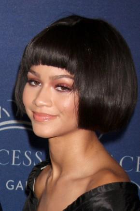 Zendaya Coleman Sharp Bob Short Haircuts 2015