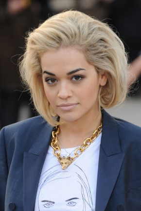 Rita Ora Classy Short Bob Haircuts 2015