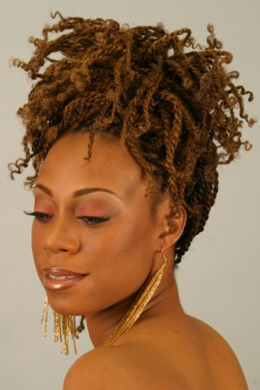Messy Updo Twist Hairstyles 2015