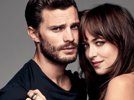 Christian Grey and Anastasia Steele hairstyles 2015