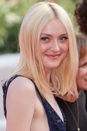 Dakota Fanning medium straight hairstyles 2015